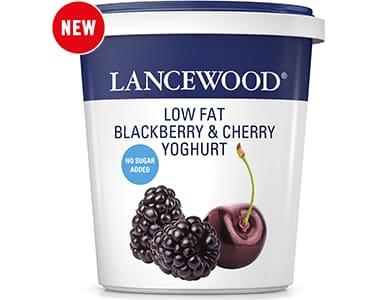 No Sugar Added Low Fat Blackberry & Cherry Yoghurt