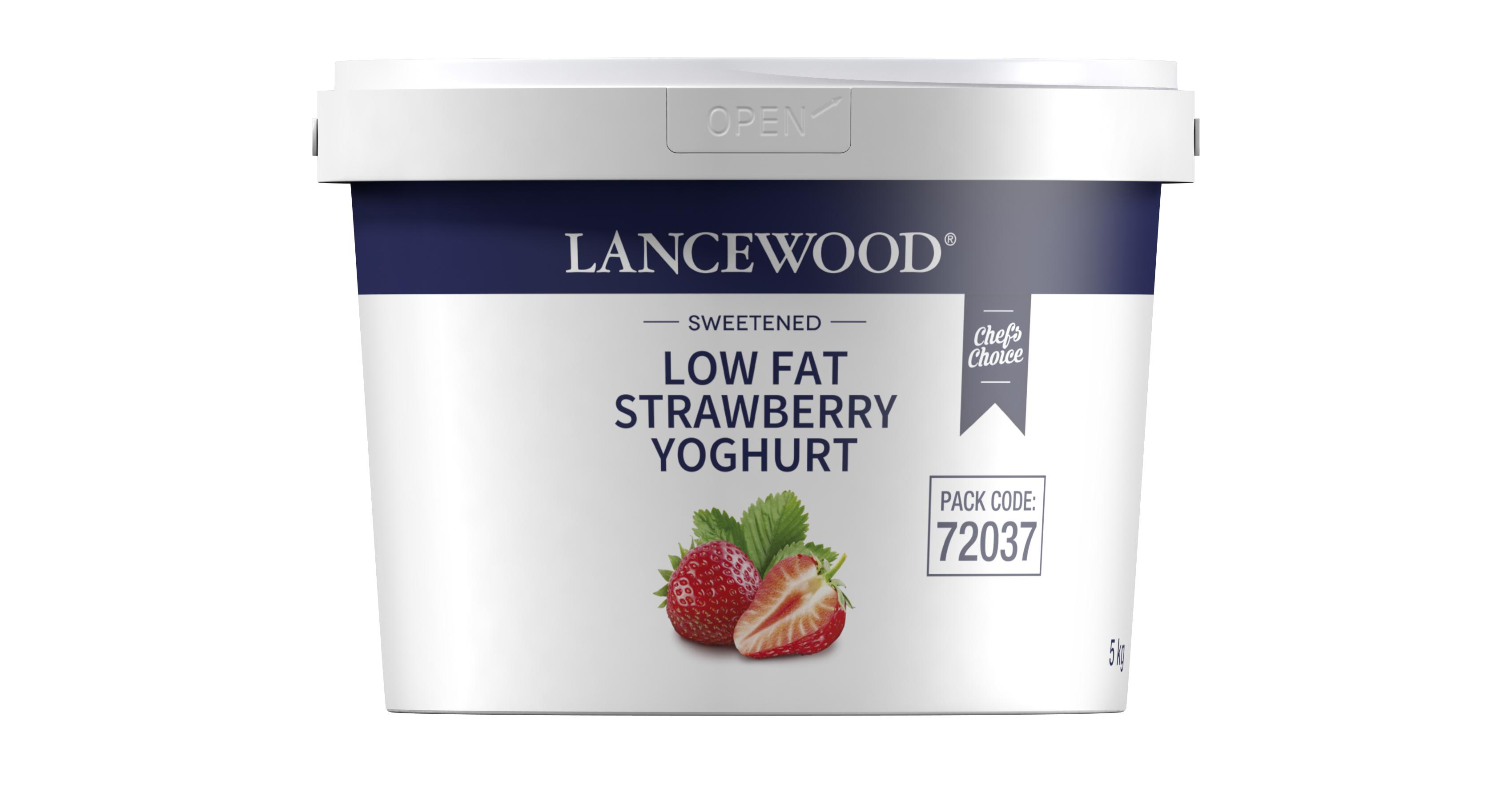 Low Fat Strawberry Yoghurt