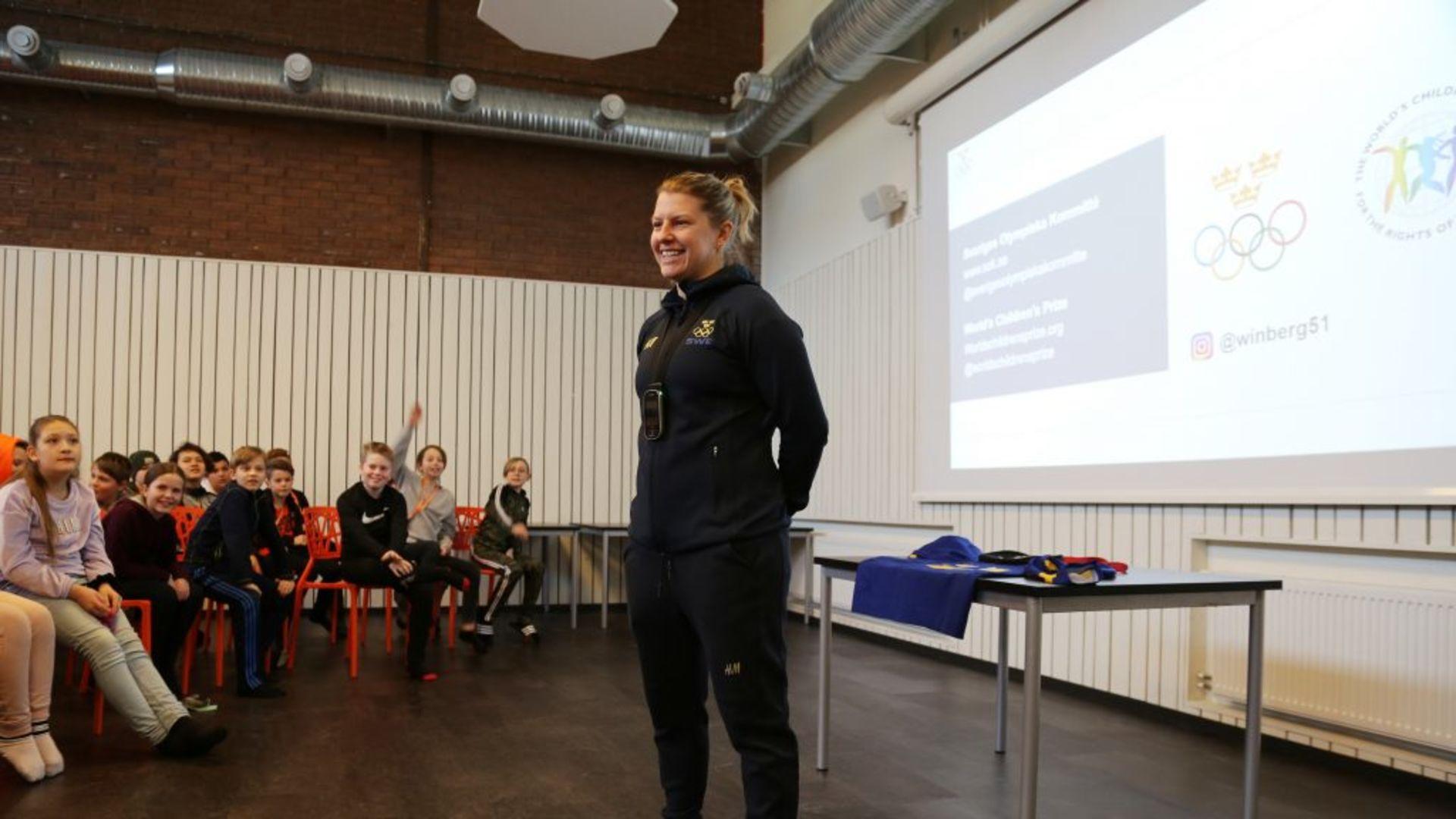 Elever från Erlaskolan Södra möter olympier