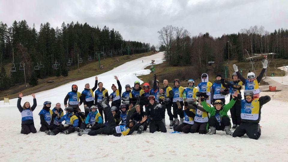 Alla på snö med Realgymnasiet i Skåne