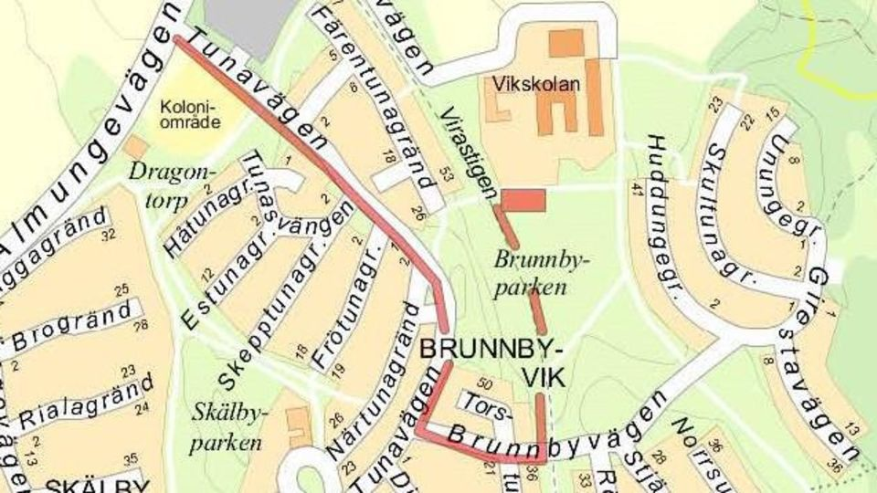Provisorisk bilväg till Vikskolan och förskolan Hagvidson Vik öppnar den 5 oktober