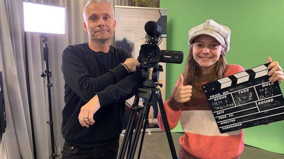 Mats och Olivia inspirerar andra skolor att använda film i lärandet.