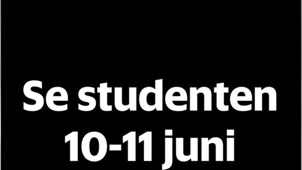 Möjlighet att se årets studentutspring i efterhand
