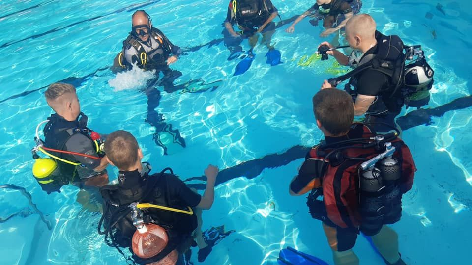 Dykning på schemat