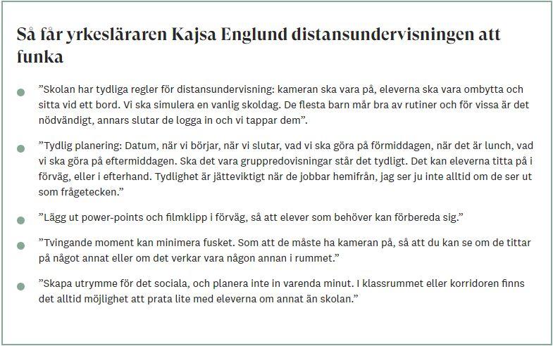 Kajsas tips till Läraren.se
