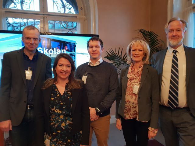 Lärande talar i riksdagen: skola och bransch i samarbete – en riktig framgångssaga!