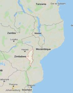 Karta södra Afrika