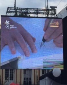 Underskrift fredsavtalet