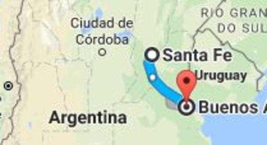 Karta Santa Fe - Buenos Aires