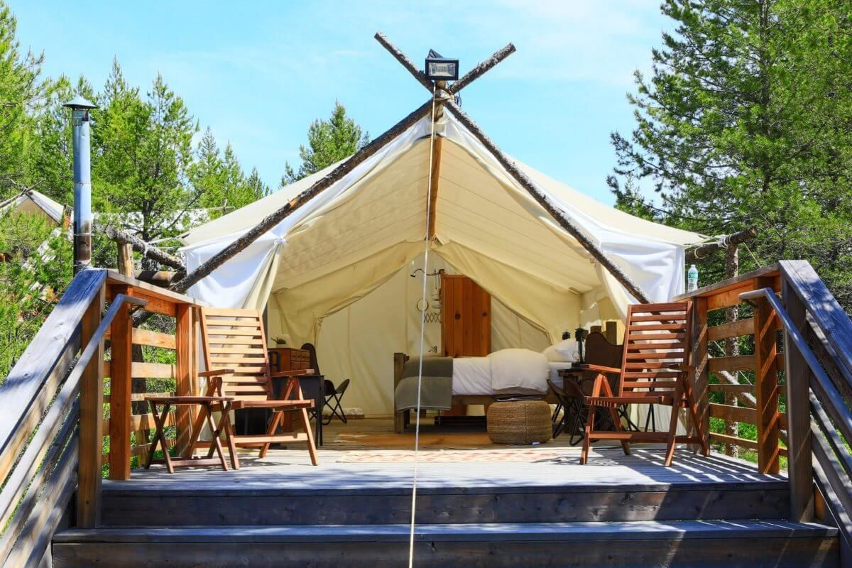 Under Canvas Resorts - Glacier, Montana Safari style tent