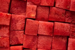 cubed watermelon