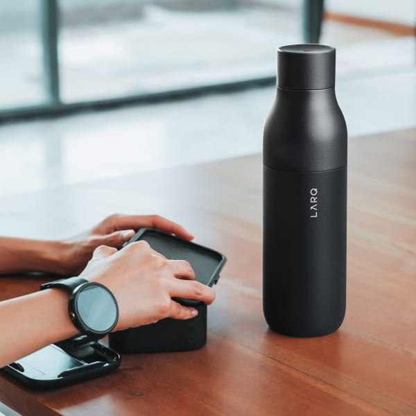 Photo of LARQ Bottle PureVis - Obsidian Black on table
