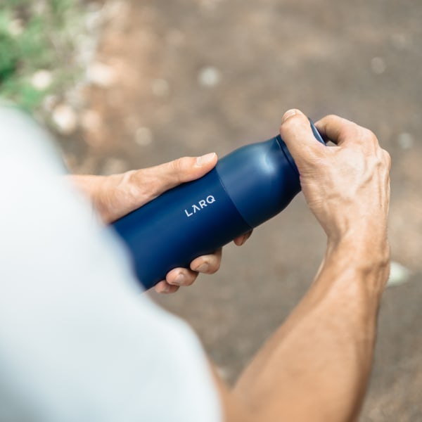 Photo of LARQ Bottle PureVis - Monaco Blue in hands
