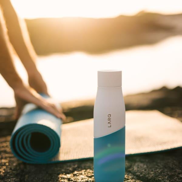 Photo of Larq Bottle Movement PureVis - White / Marine yoga