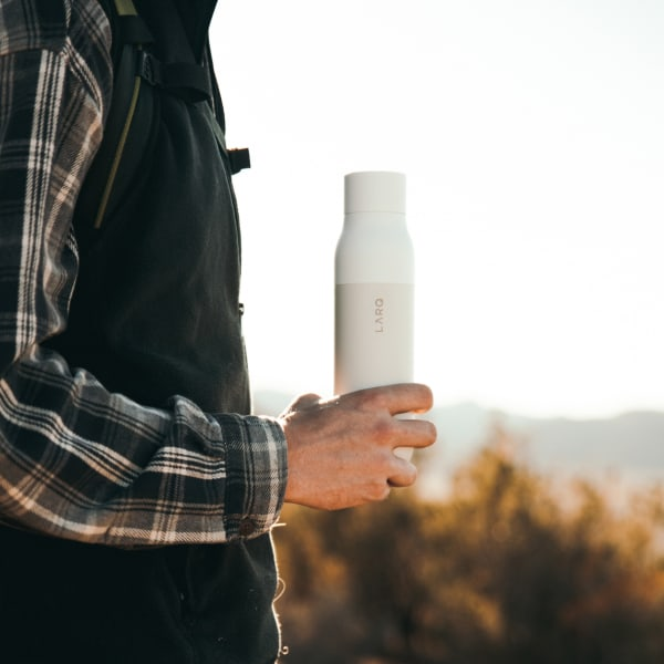 Photo of LARQ Bottle - Granite White in hand