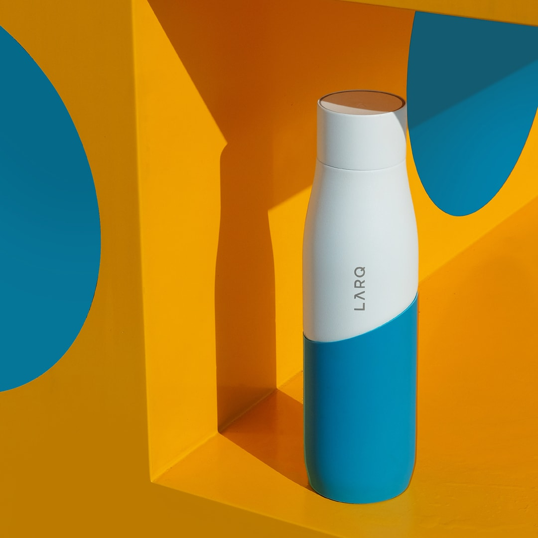 Photo of Larq Bottle Movement PureVis - White / Marine