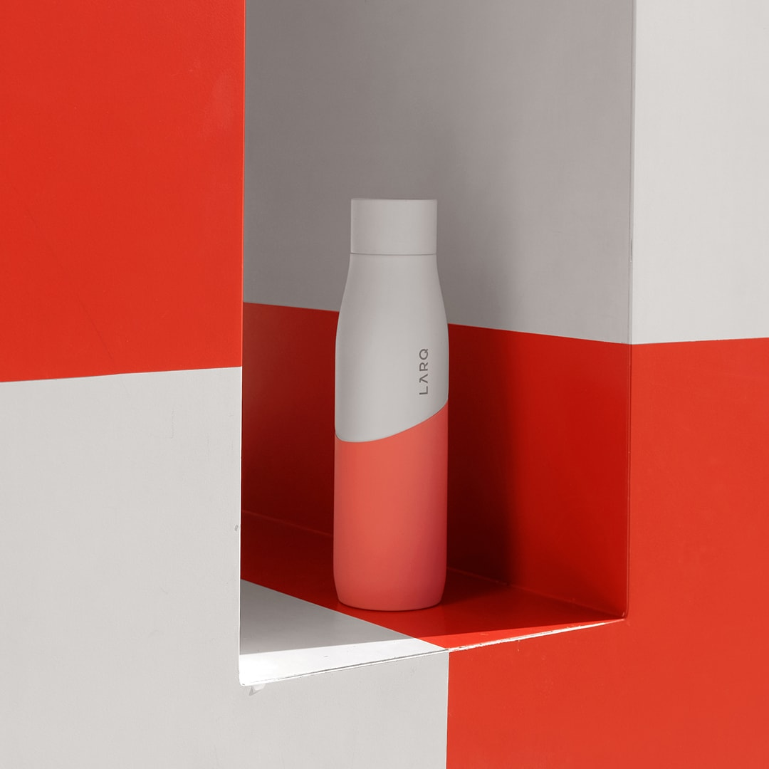Photo of Larq Bottle Movement PureVis - White / Coral