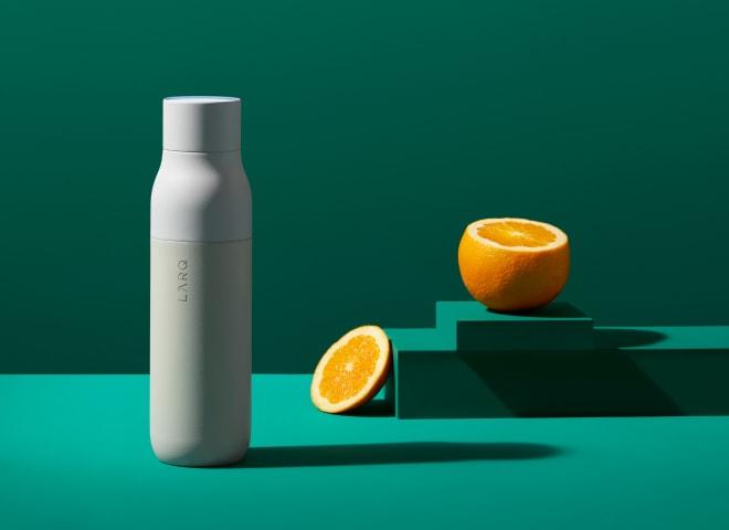 LARQ Bottle on green background