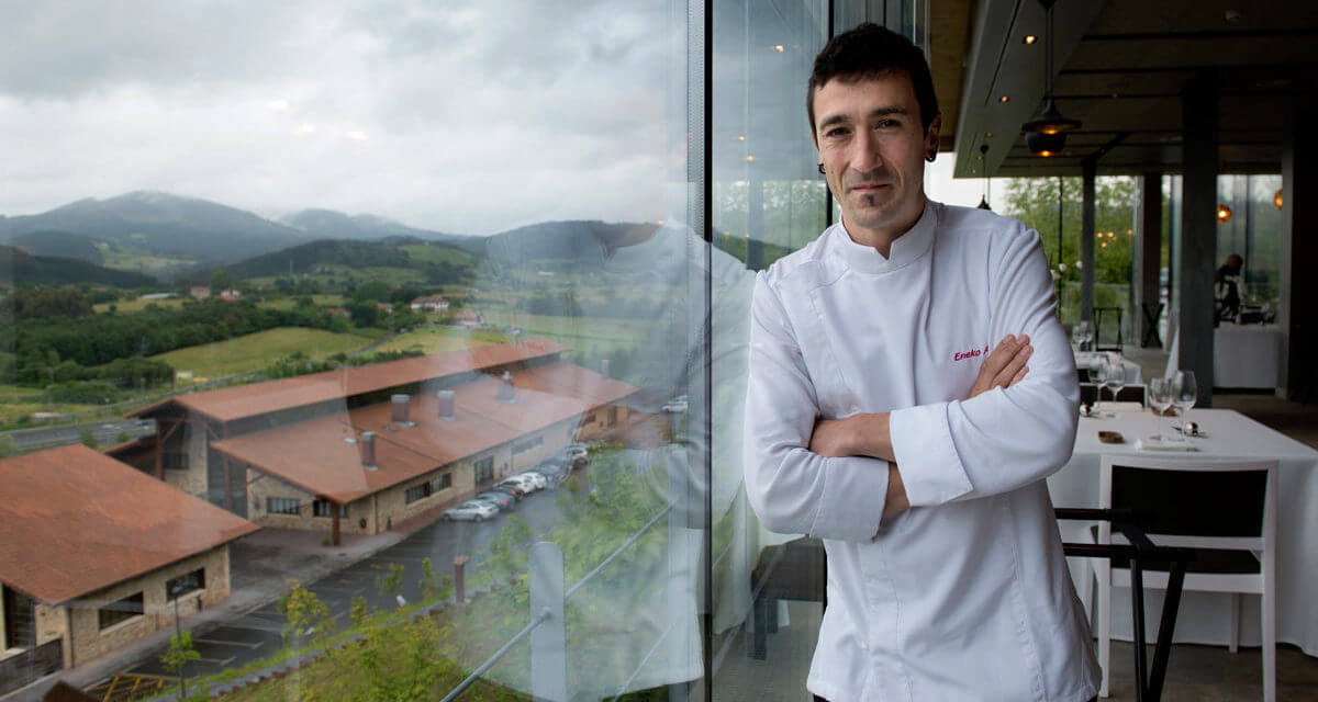 Eneko Atxa, Michelin star chef-owner of the most sustainable restaurant in the world, Azurmendi in Spain.