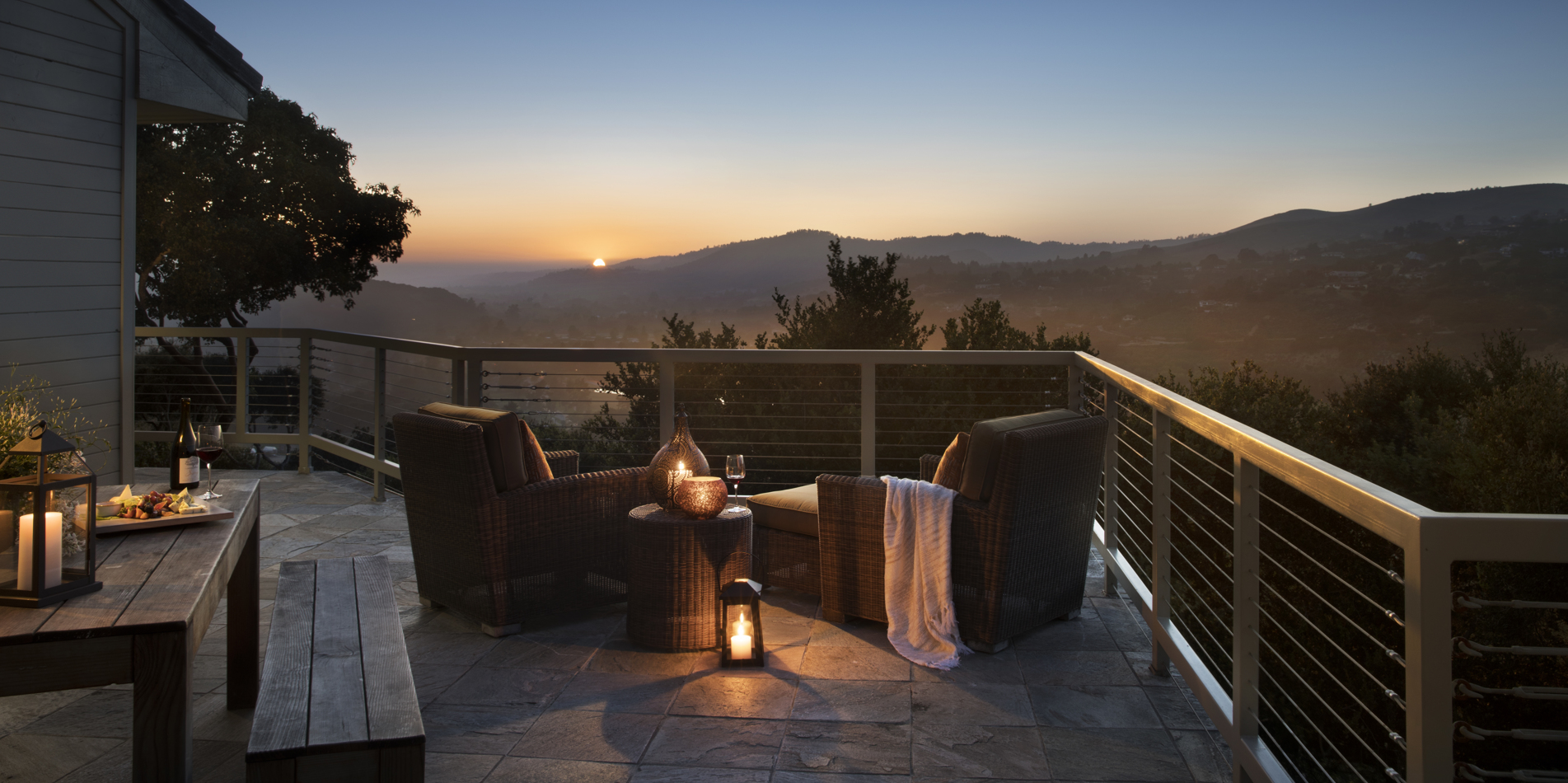 Carmel Valley Ranch, California wrap around deck attached to suite
