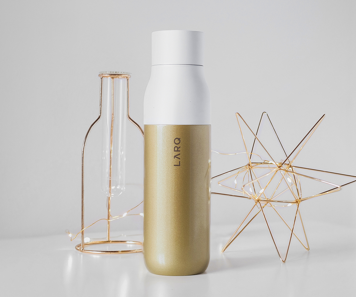 LARQ Bottle Benefit Edition Sahara Gold Bottle