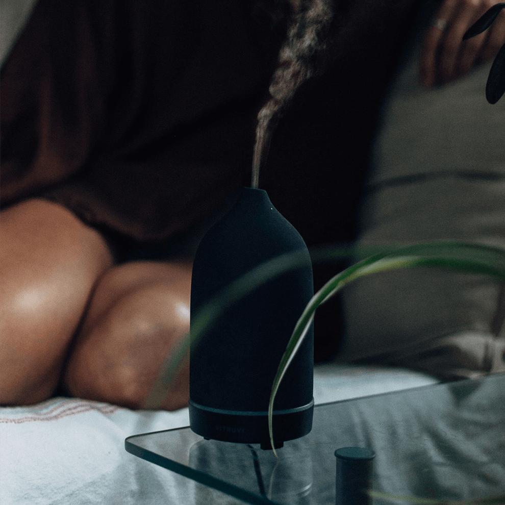 Vitruvi aromatherapy diffuser in matte black