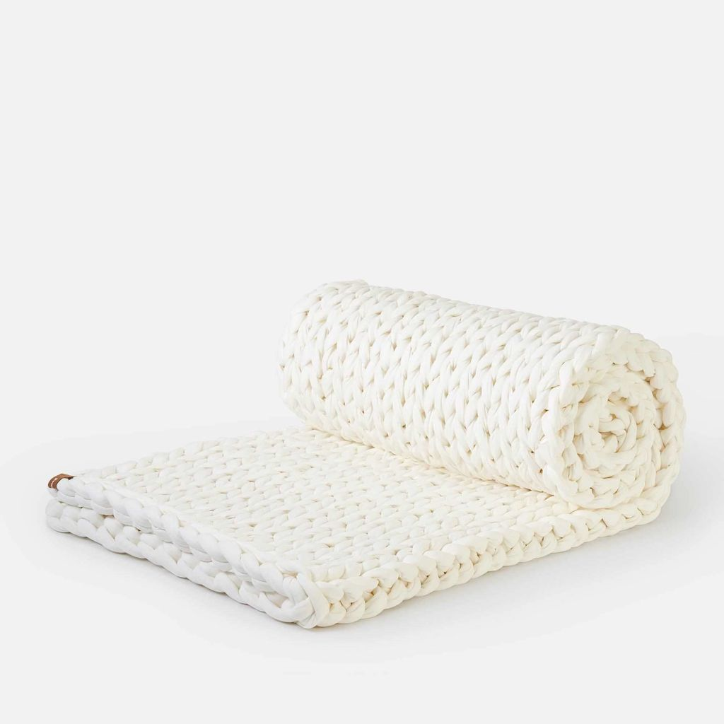 Bearaby Tree Napper weighted blanket in Stone color
