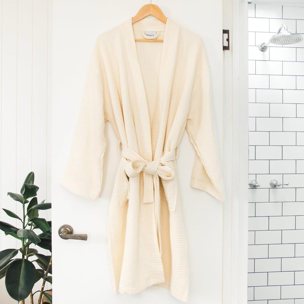 Ettitude 100% bamboo lyocell waffle weave robe