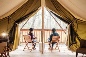 Firelight Glamping resort in Ithaca, New york