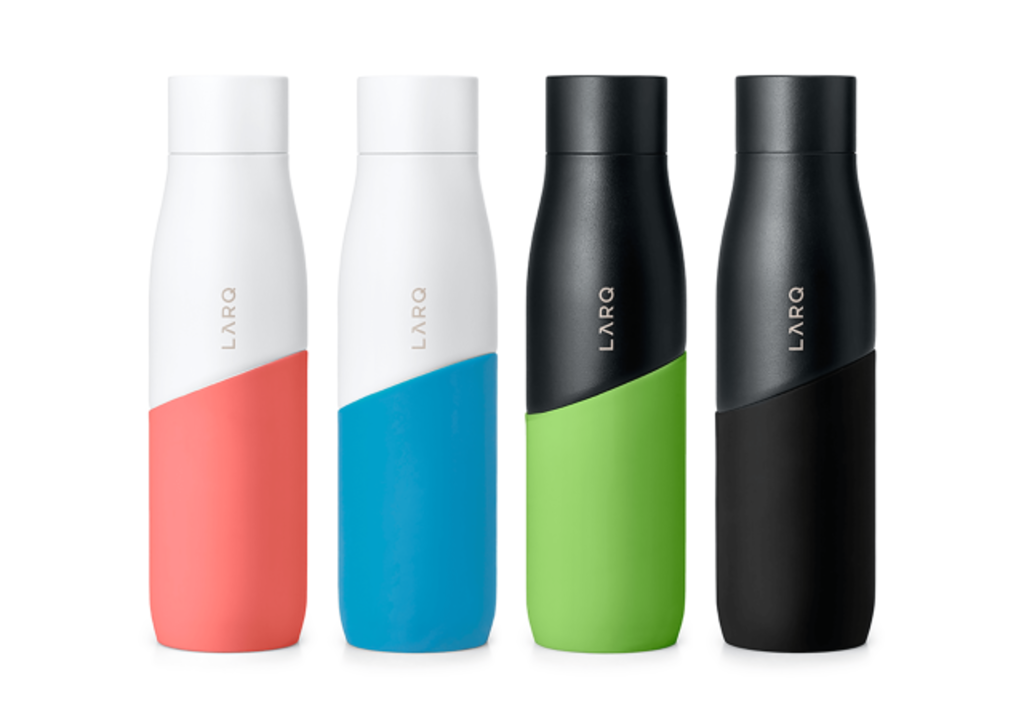LARQ Bottle Movement 24oz / 710mL single wall stainless steel self cleaning water bottle powder coated silicone sleeve