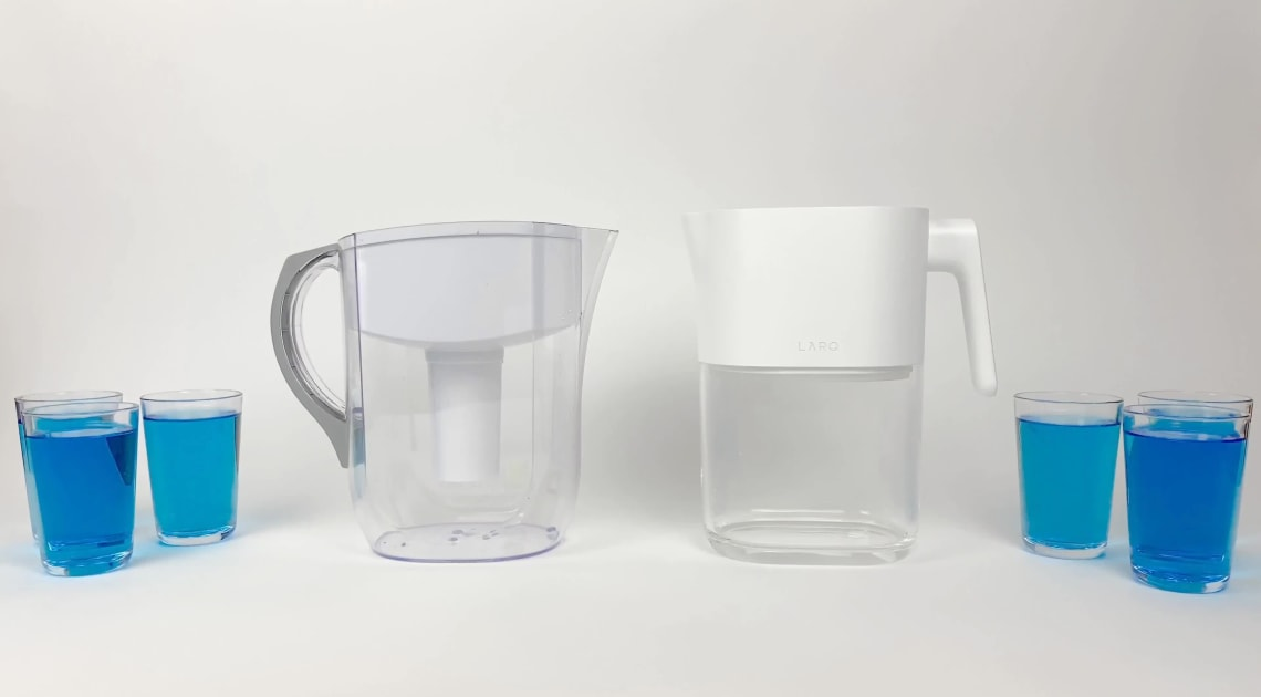Traditional vs LARQ Pitcher