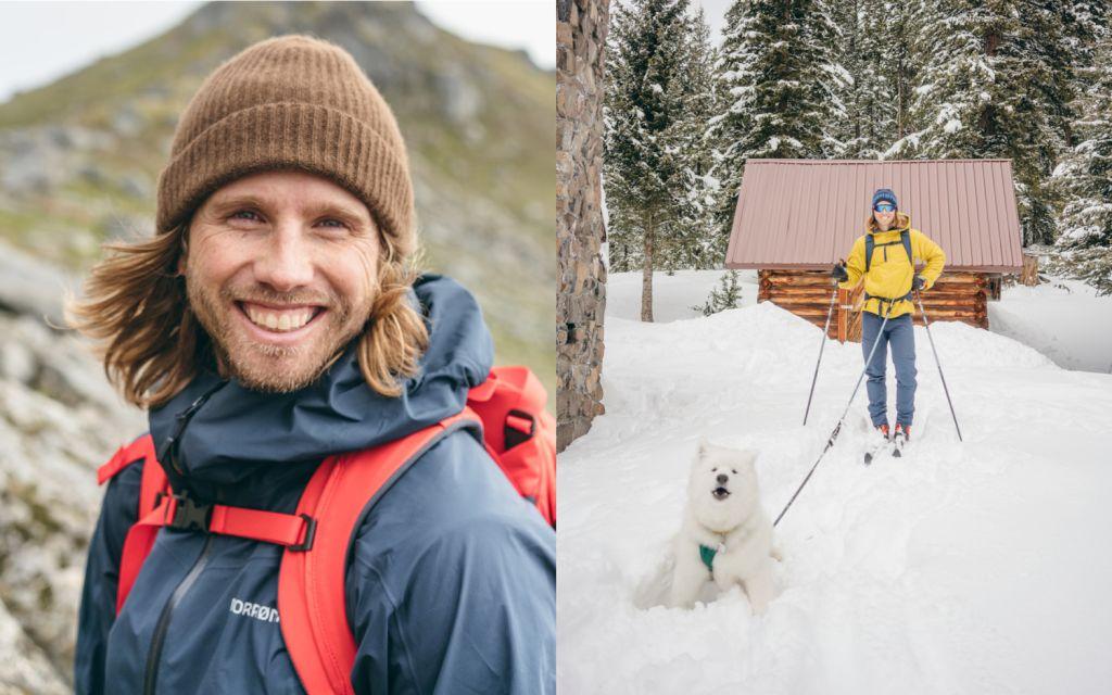 Charles Post and Samoyed dog Knute