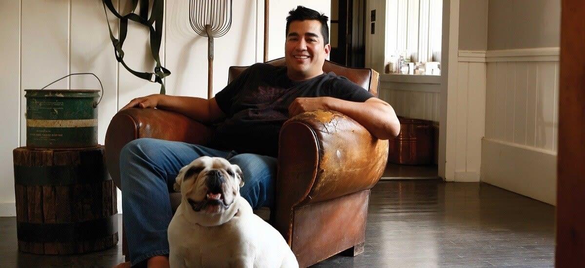 Former Iron Chef Jose Garces in his Luna Farms home