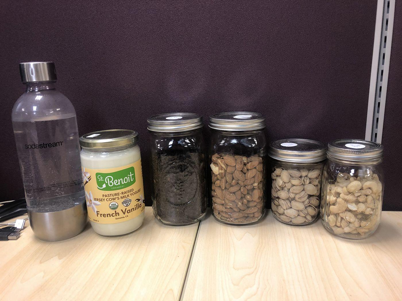 mason jar food stroage containers