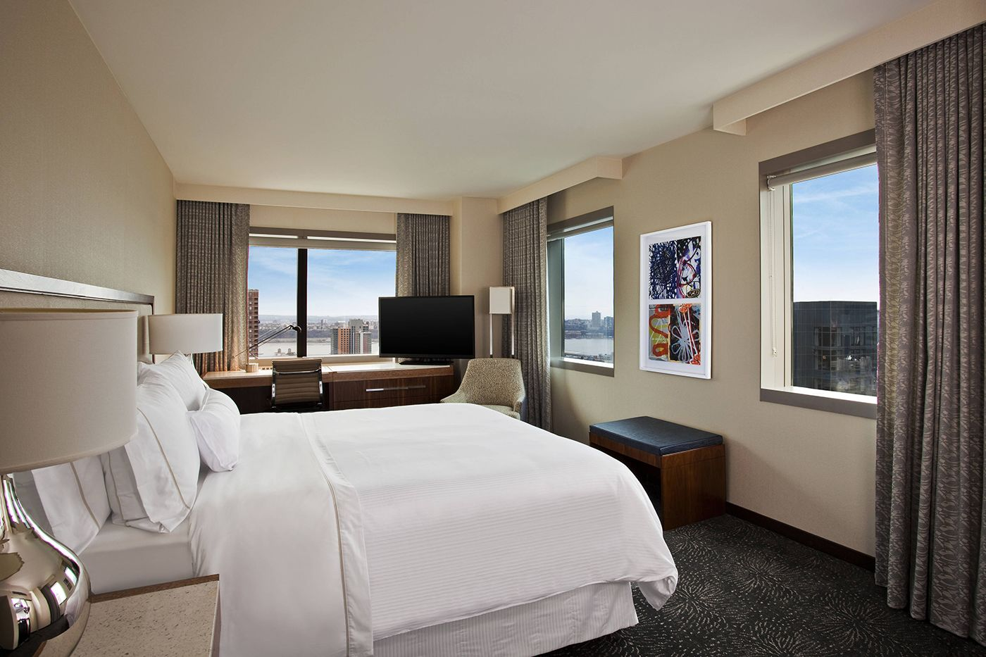 Hotel room at the Westin in new york Time Square Courtesy of The Westin New York Times Square