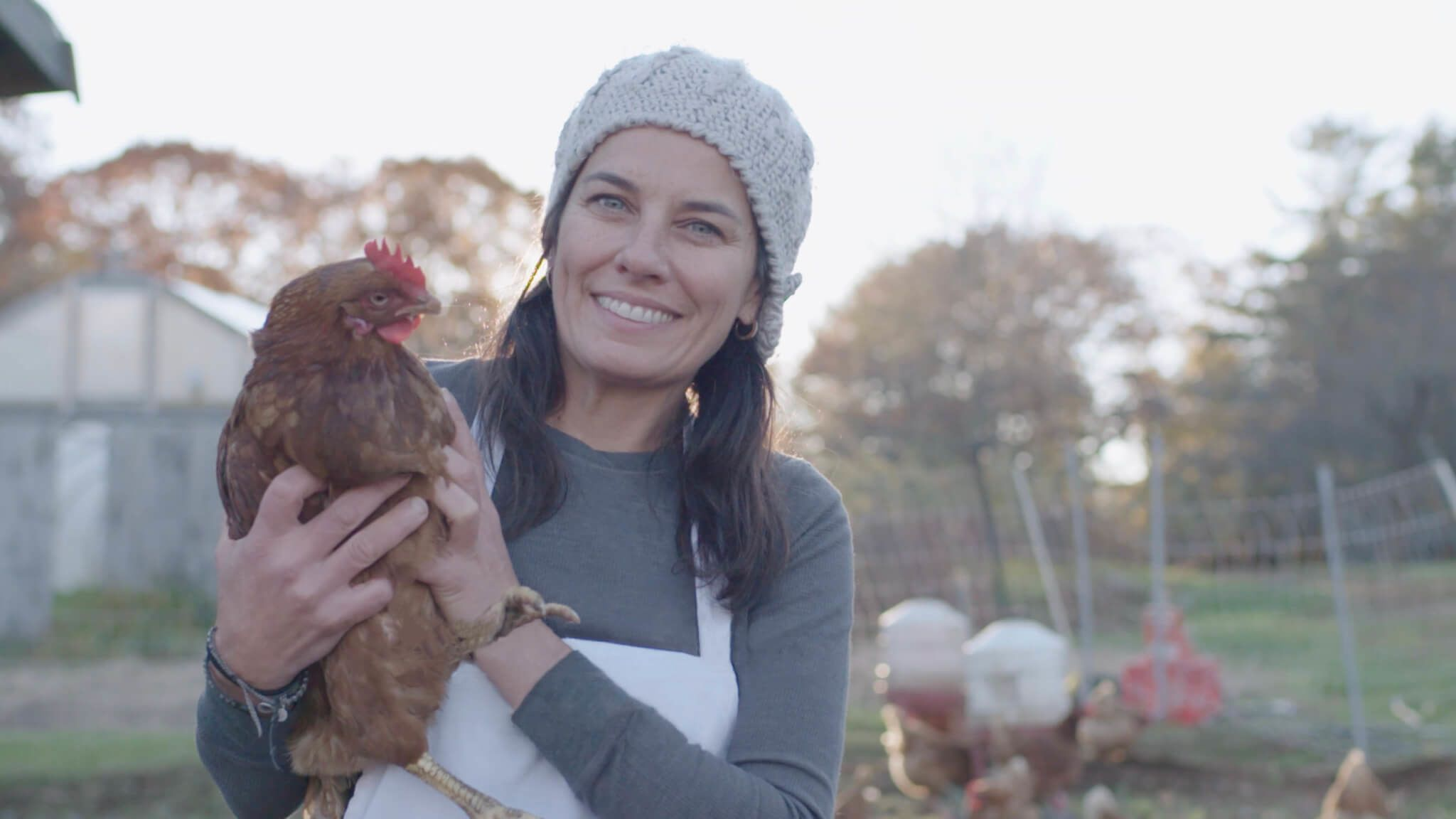 Melissa Kelly from her Primo restaurant farm