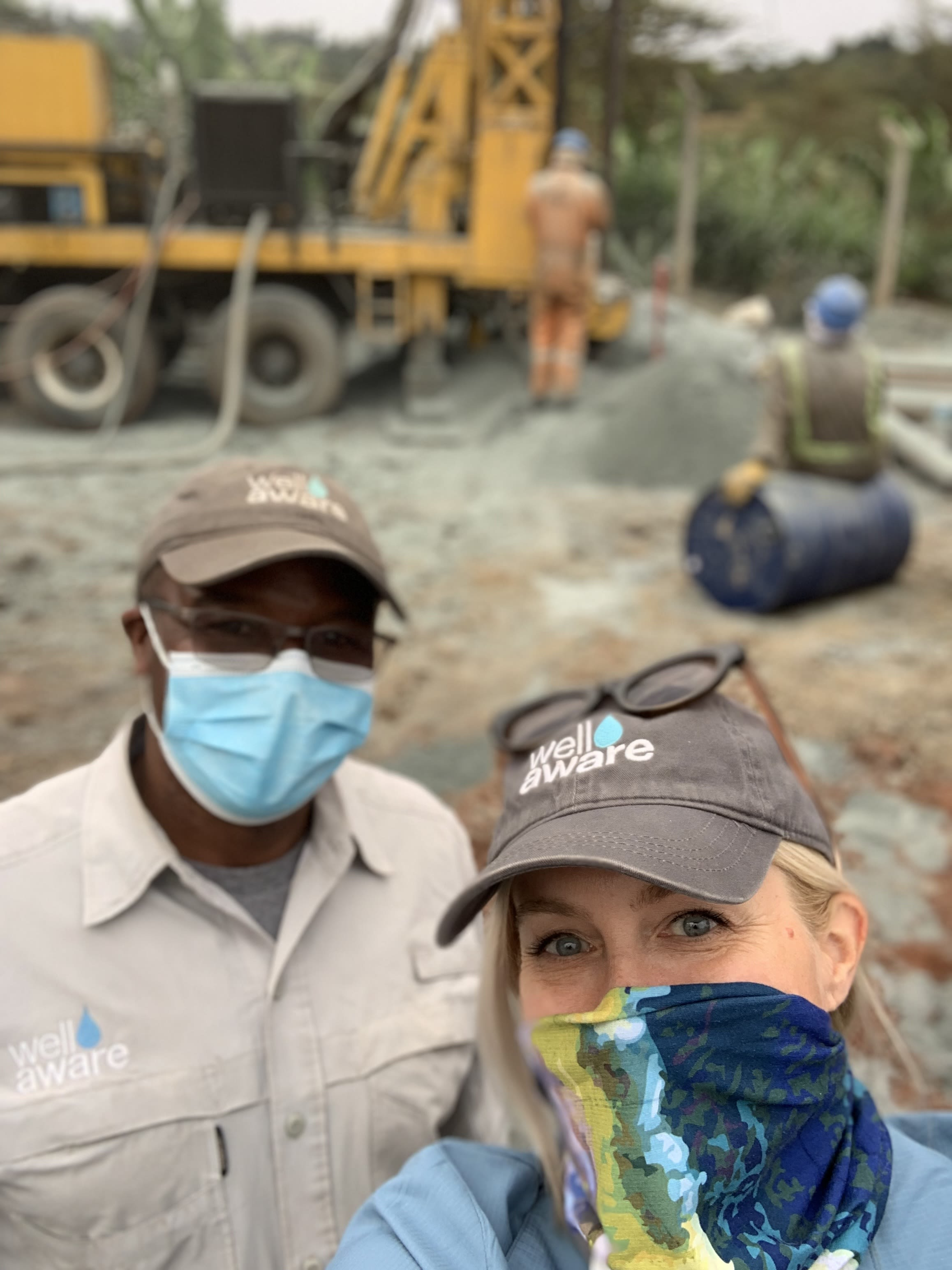 Well Aware founder, Sarah and Well Aware Project Manager, Mike, at the Kooi, Kenya Drill Site