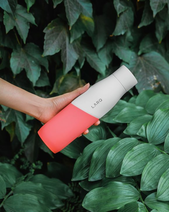 LARQ Bottle Movement in White/Coral color combination (24 oz, 740ml)