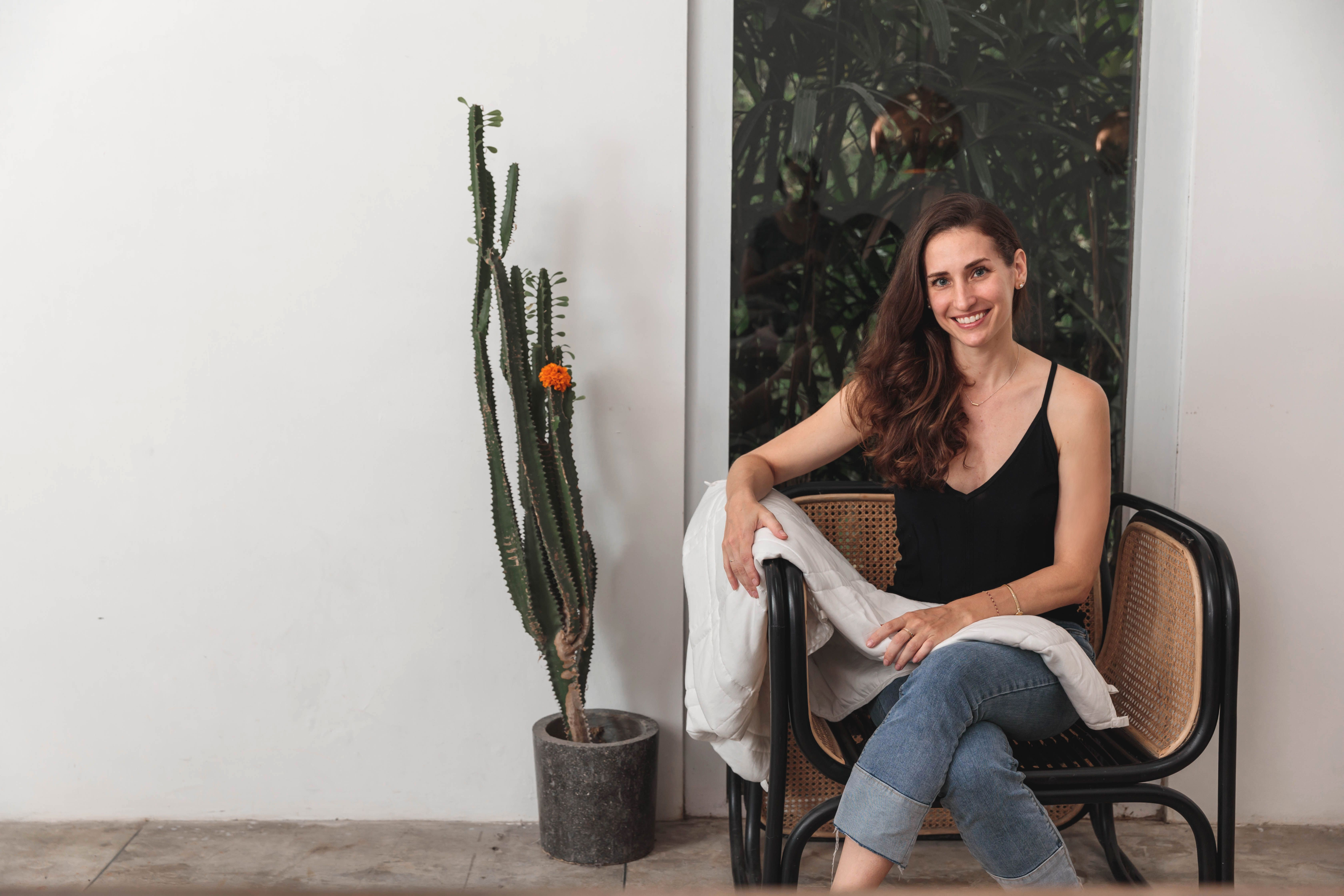 Elizabeth Grojean, Founder of Baloo Living, weighted blankets made from 100% natural cotton