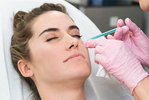 Botox Injections in side of the face