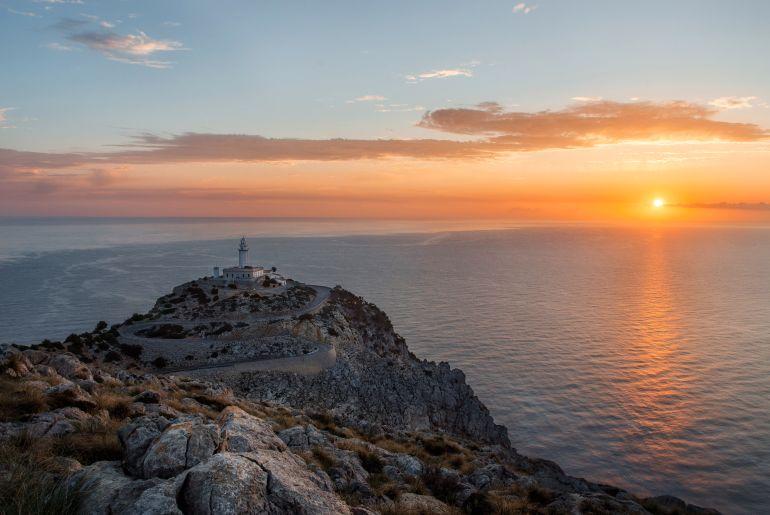 Cap de Formentor auf Mallorca bei Sonnenuntergang
