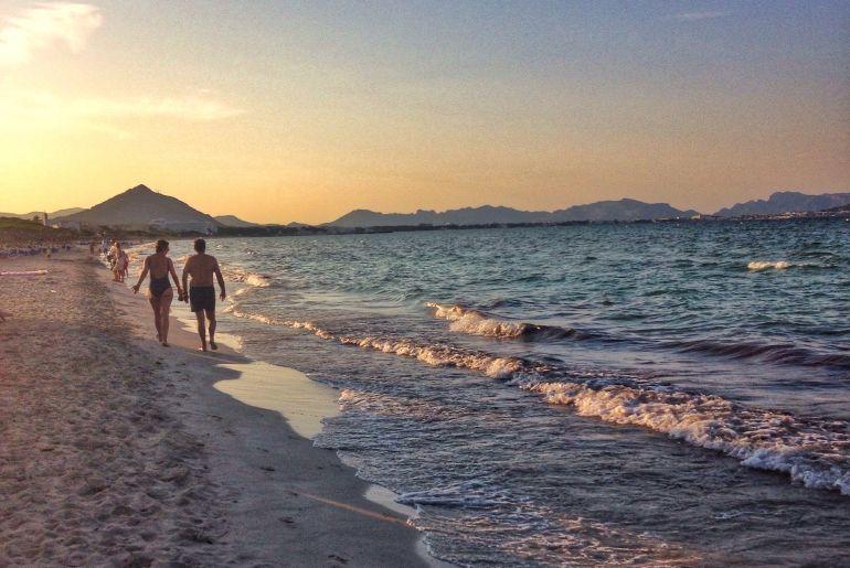 Strandsptziergang auf Mallorca