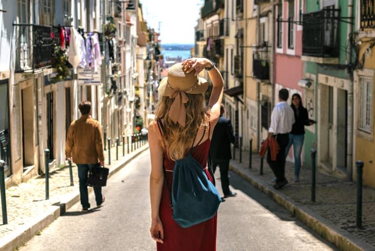 Frau in Italien
