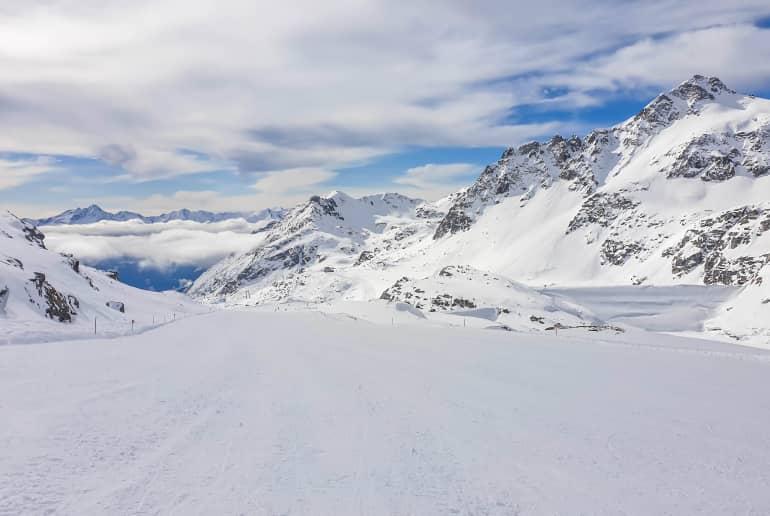 Berge im Winter Möllteler Geltscher