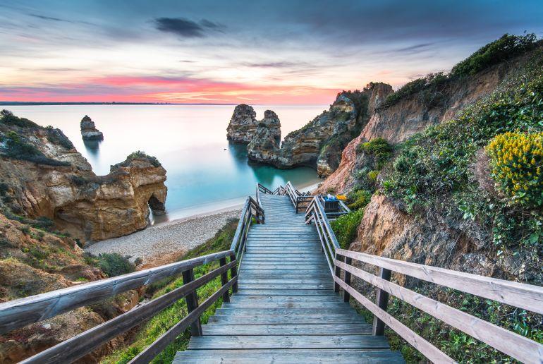 Portugal Treppe an zum Meer
