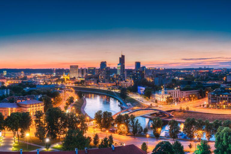 Litauen bei Nacht