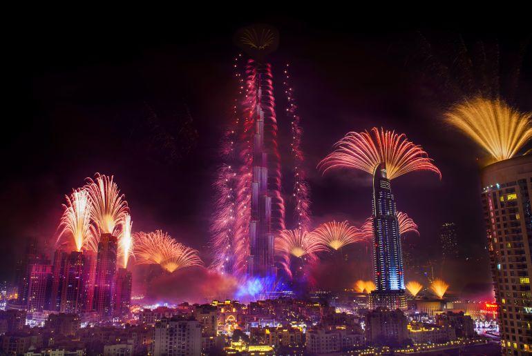 Feuerwerk in Dubai