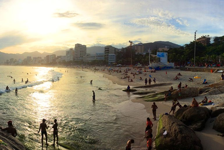 Ipanema Strand auf Rio de Janiero