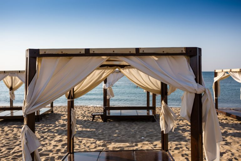 Liegen am Strand in Bulgarien