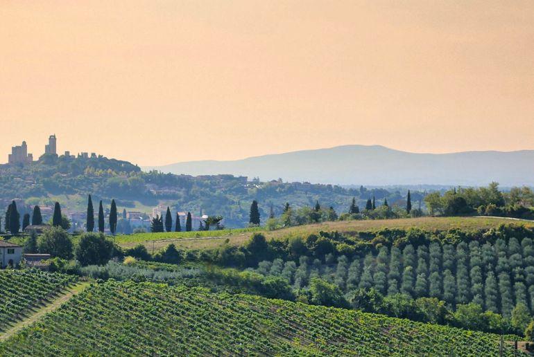 Toscanische Landschaft bei Montepulciano